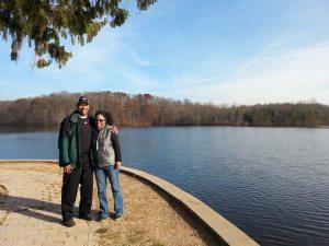 Hiking w/ my friend J.T.!