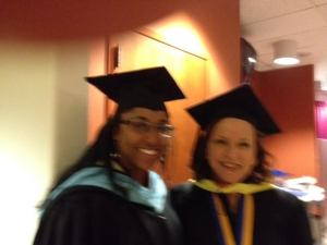 Judi Ungar, Advisor of Alpha Nu Omega chapter of Phi Theta Kappa, and I at the Spring 2014 induction ceremony