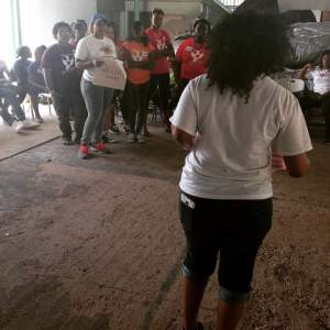 Teaching my first leadership workshop to young people at The Love Movement in Trinidad.